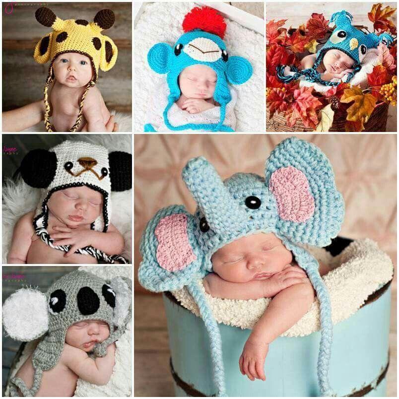 Tiermützen für Babys. Goldig! | Tierische Mützen | Pinterest ...