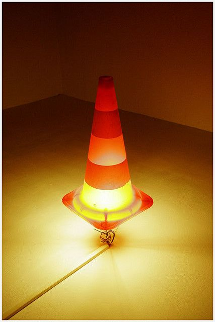 Night lamp for E's room when we do a car theme at some point. I have the traffic cone anyways.