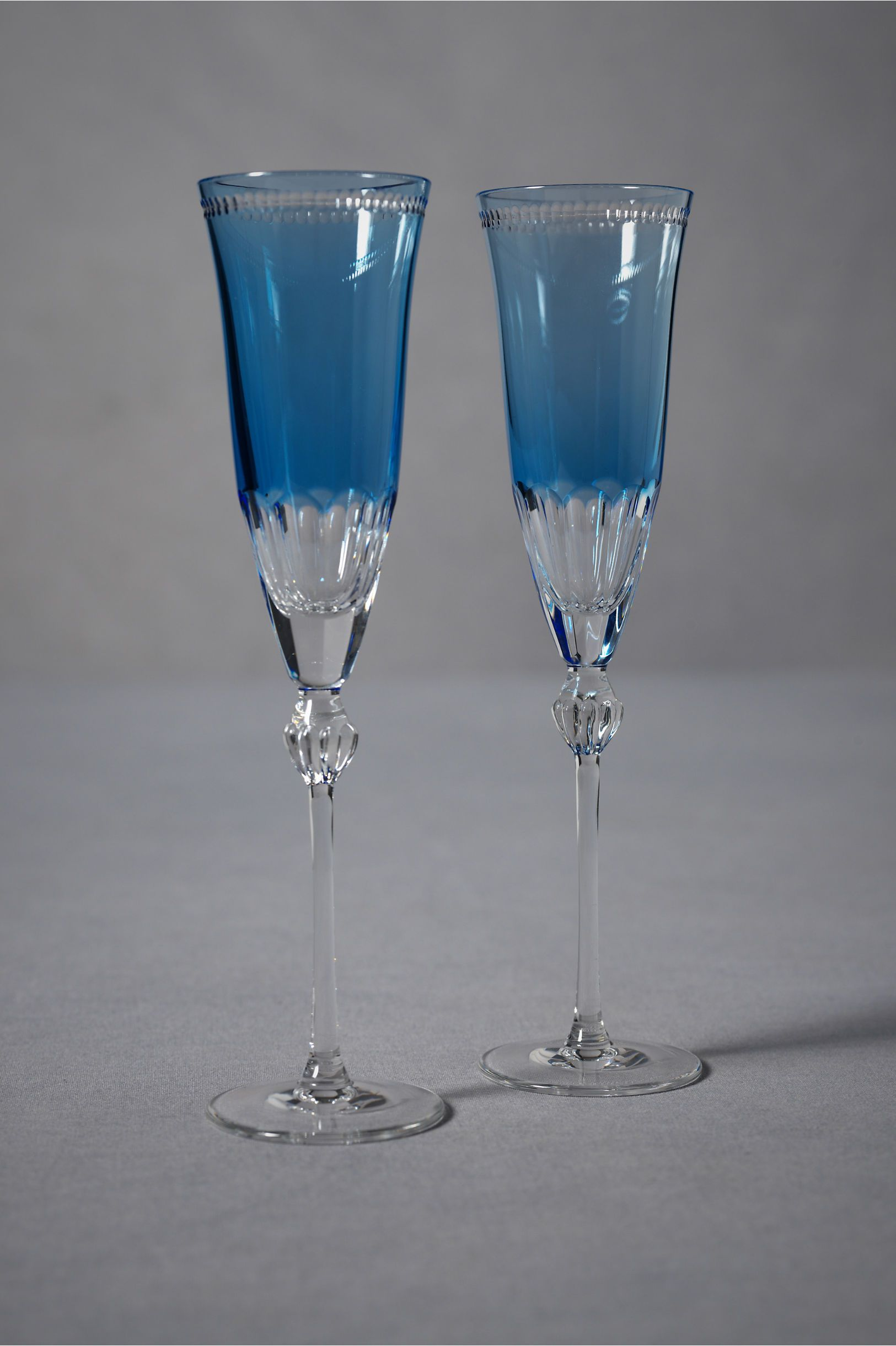 Lapis Toasting Flutes  at BHLDN