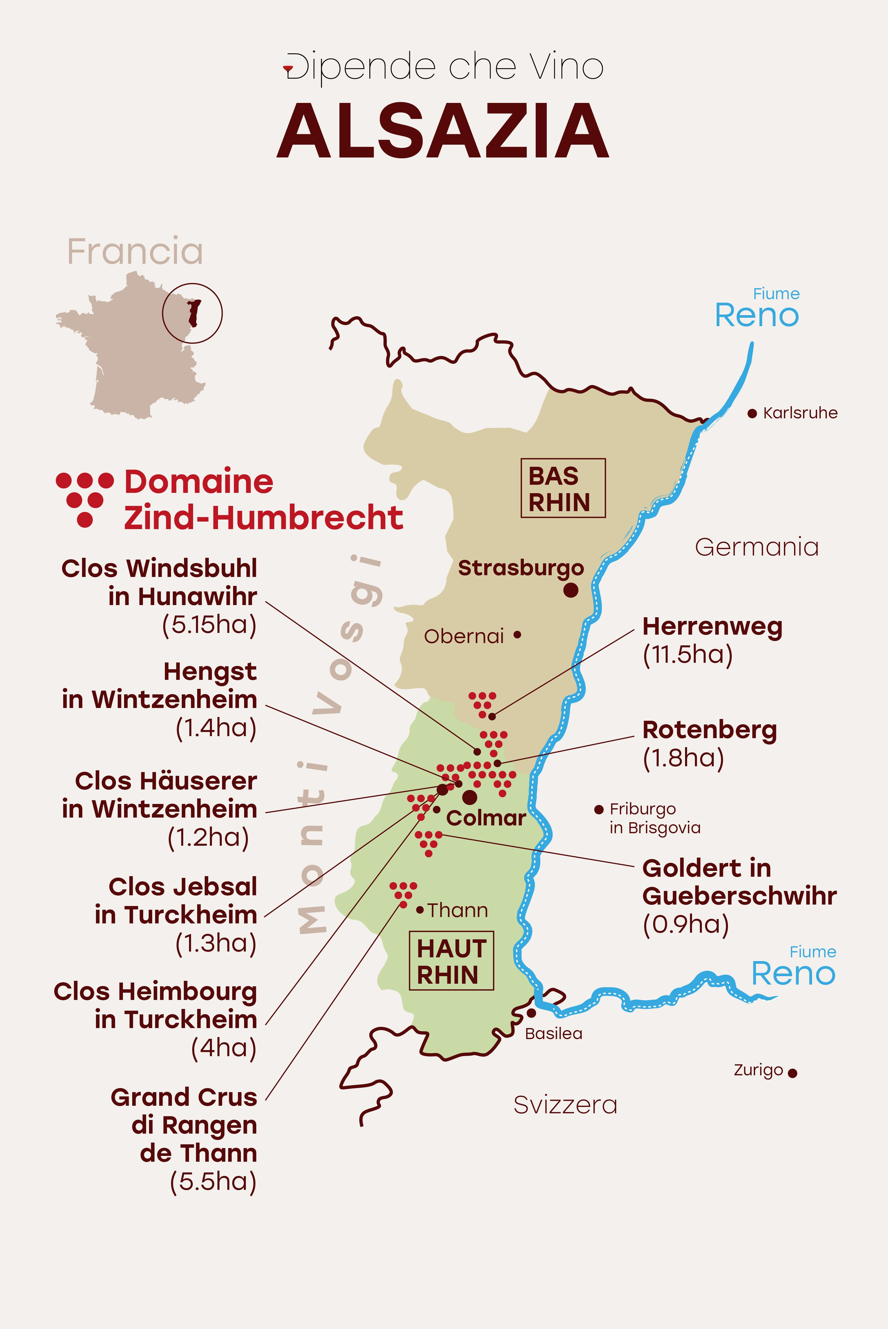 Cartina Vini Francia.Carta Alsazia Domaine Zind Humbrecht Alsazia Cibo E