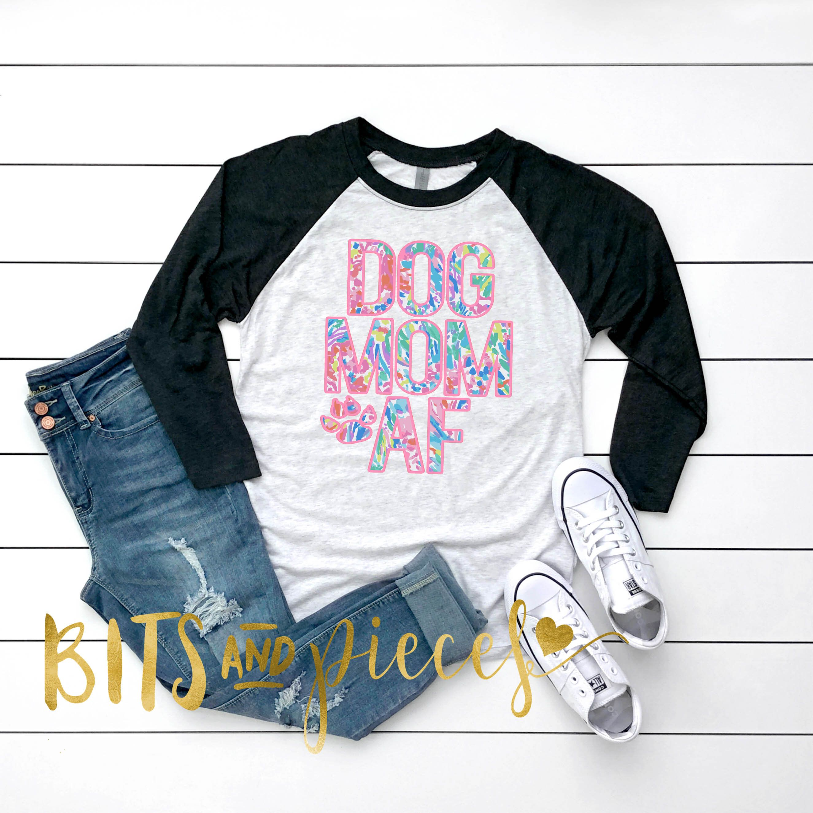 ba1033aa4e95 Excited to share this item from my #etsy shop: Dog Mom AF T-Shirt |Dog Lover  Gift | Dogs | Dog T-Shirt | Birthday Gift | Dog Tee | Puppy Shirt | Dog ...