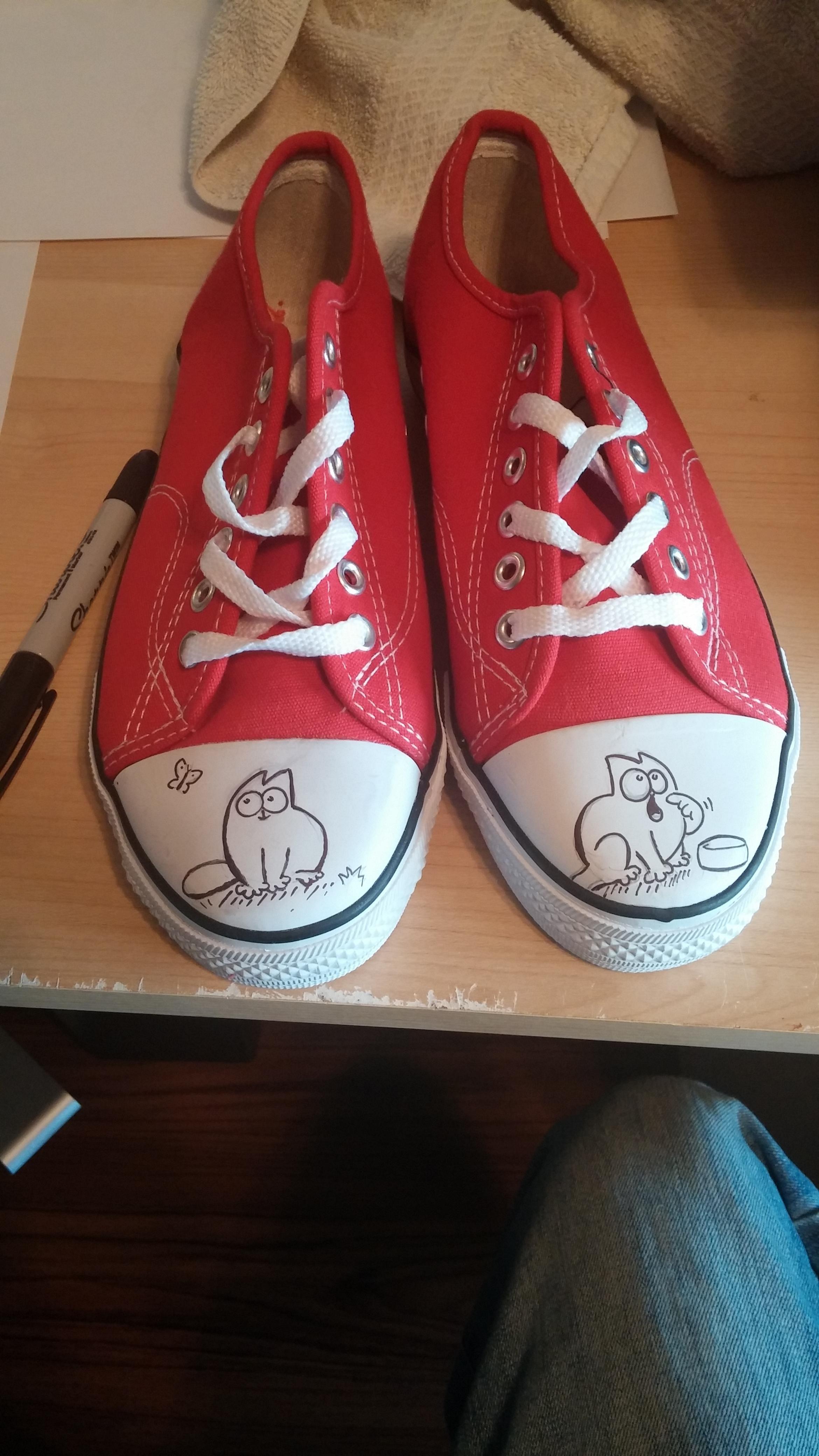 5e4eb1ab7 Simon s Cat Shoes I made my wife for XMAS