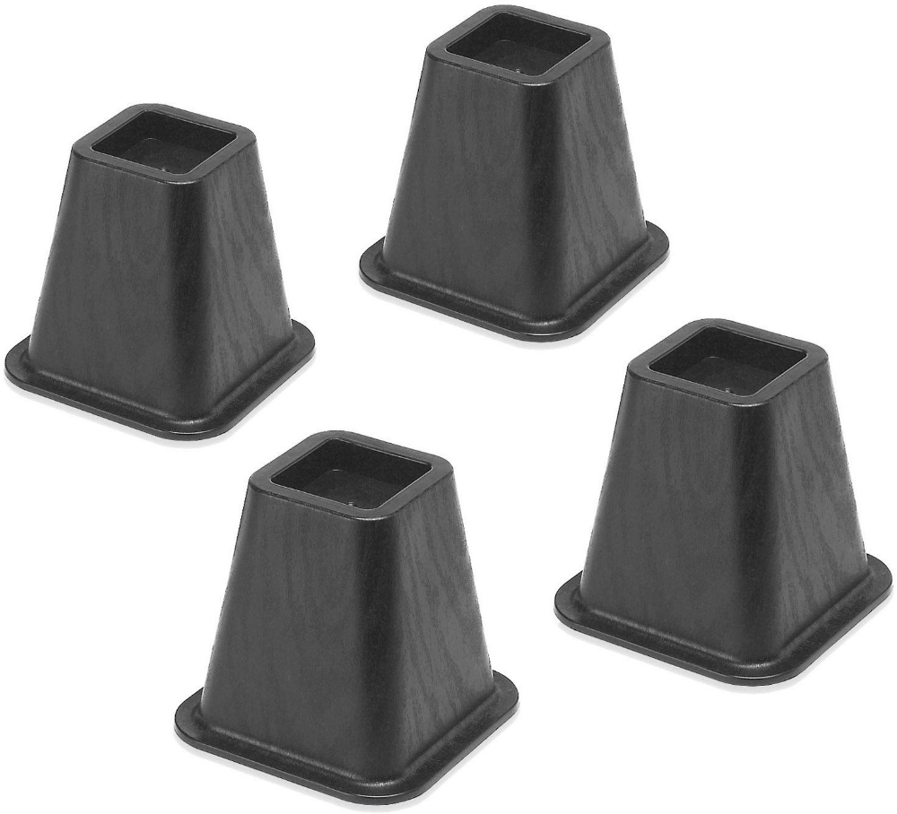 Whitmor Bed Risers Black (Set of 4) by Whitmor Bed