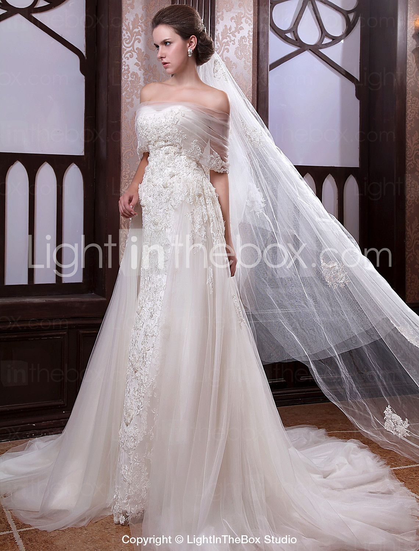 [594.99] Princess ALine Wedding Dresses Off Shoulder