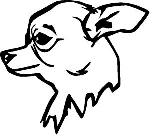 Outline Of Chihuahua To Draw Go Back Pics For Mean Wolf Head Outline Outline Drawings Drawings Chihuahua Drawing