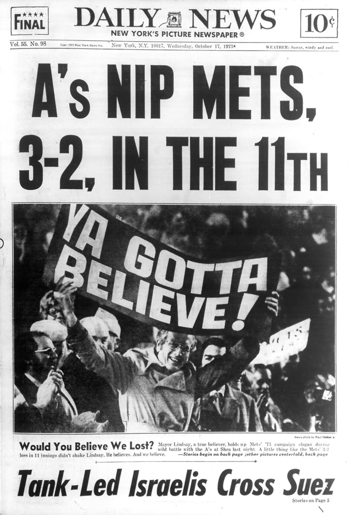 1973 World Series Game 3 Mets vs. Oakland A's Mets