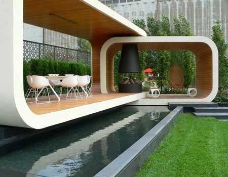Modern Gazebo Designs By Jack Merlo บ านในฝ น สวน ไอเด ย