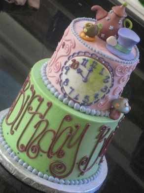 Alice In Wonderland Cake Buttercream Google Search Mad Hatter