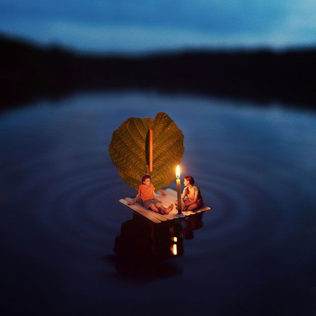 """Miniature World Photo-Manipulations by 14-Year-Old Photographer """"Fiddle Oak"""". Massachusetts-based photographer and retoucher Zev has been at it for 6 years now, which means he first picked up his camera and laid his mouse cursor on Photoshop's Toolbox when he was just eight years old! Follow him on Flickr: http://www.flickr.com/photos/fiddleoak/"""