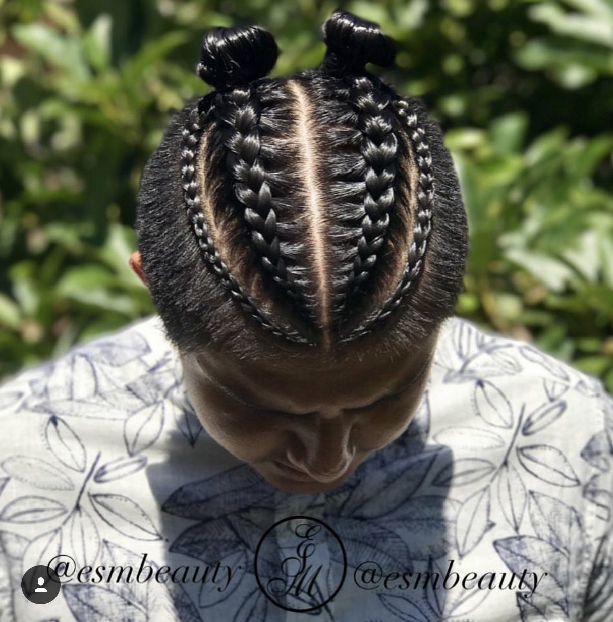 Double Man Bun Braids Mens Braids Hairstyles Cool Braid