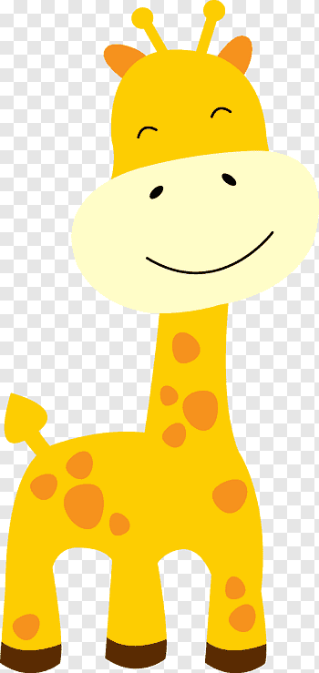 Giraffe Baby Giraffes Jungle Safari Free Png Jerapah Binatang Kartun