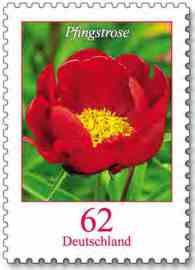 German Flower Stamp