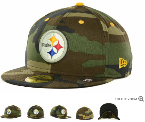 56e3bbe2c Cheap Wholesale New Era NFL Camo Pop 59FIFTY Cap Pittsburgh Steelers Hats  7493 for slae at