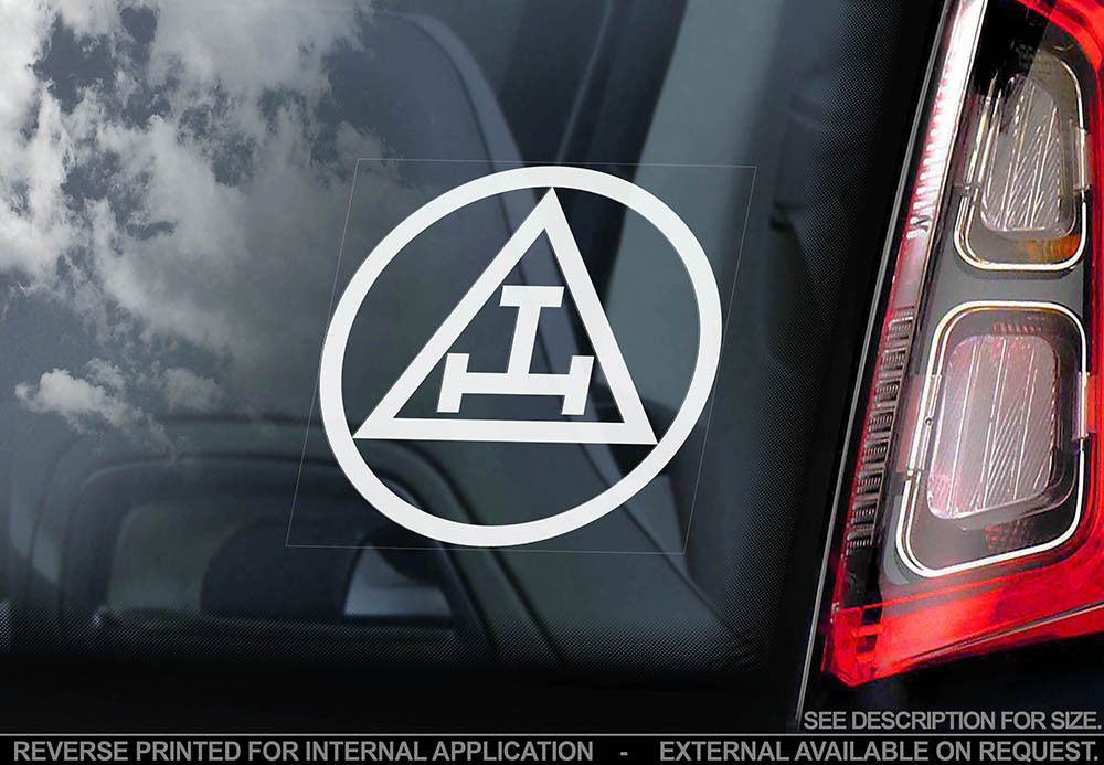 Triple tau car window sticker order of holy royal arch masonic decal logo
