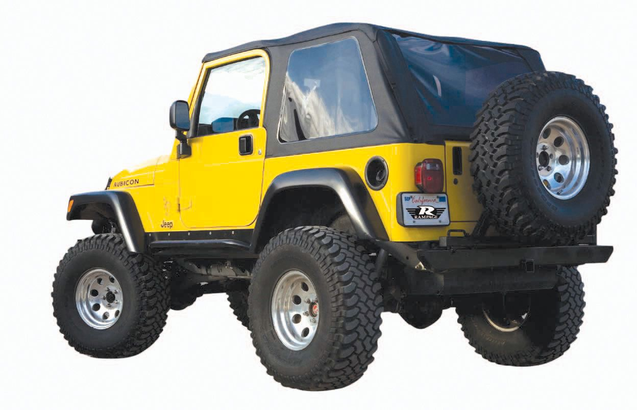 Rampage Products Frameless Trail Top For The 1997 2006 Jeep