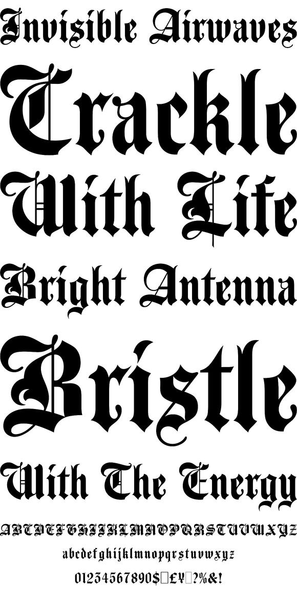 Agincourt Desktop Font Webfont Youworkforthem Old English Font Agincourt Old English Font Tattoo