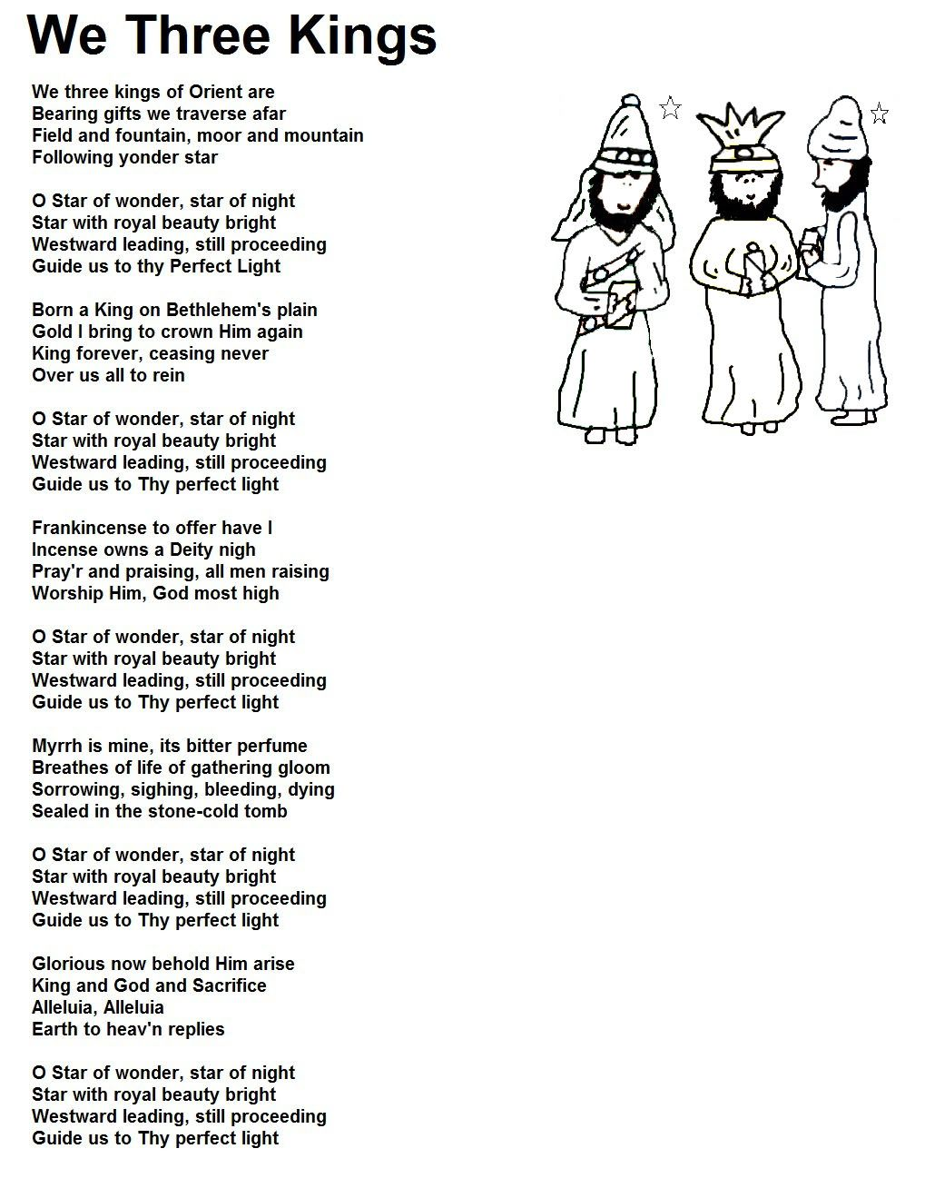 We three kings | Christmas songs lyrics, We three kings, Christmas carols  lyrics
