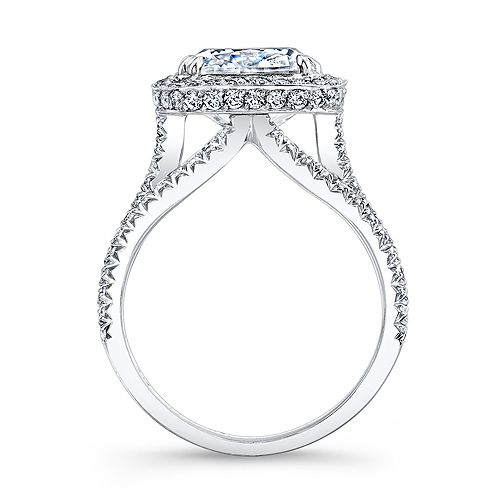 setting style higher for band 2 81 Ct Halo Cushion Cut French & Micr