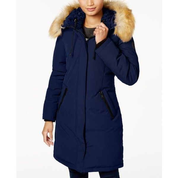 Vince Camuto Faux-Fur-Trim Hooded Down Parka ($260) ❤ liked on ...