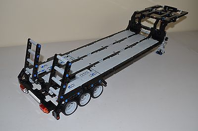 lego technic black gray custom flatbed trailer 25 long. Black Bedroom Furniture Sets. Home Design Ideas
