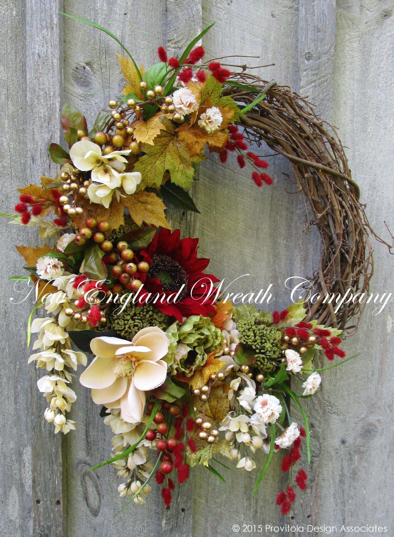 Fall Wreath Autumn Wreaths Thanksgiving Wreath Harvest