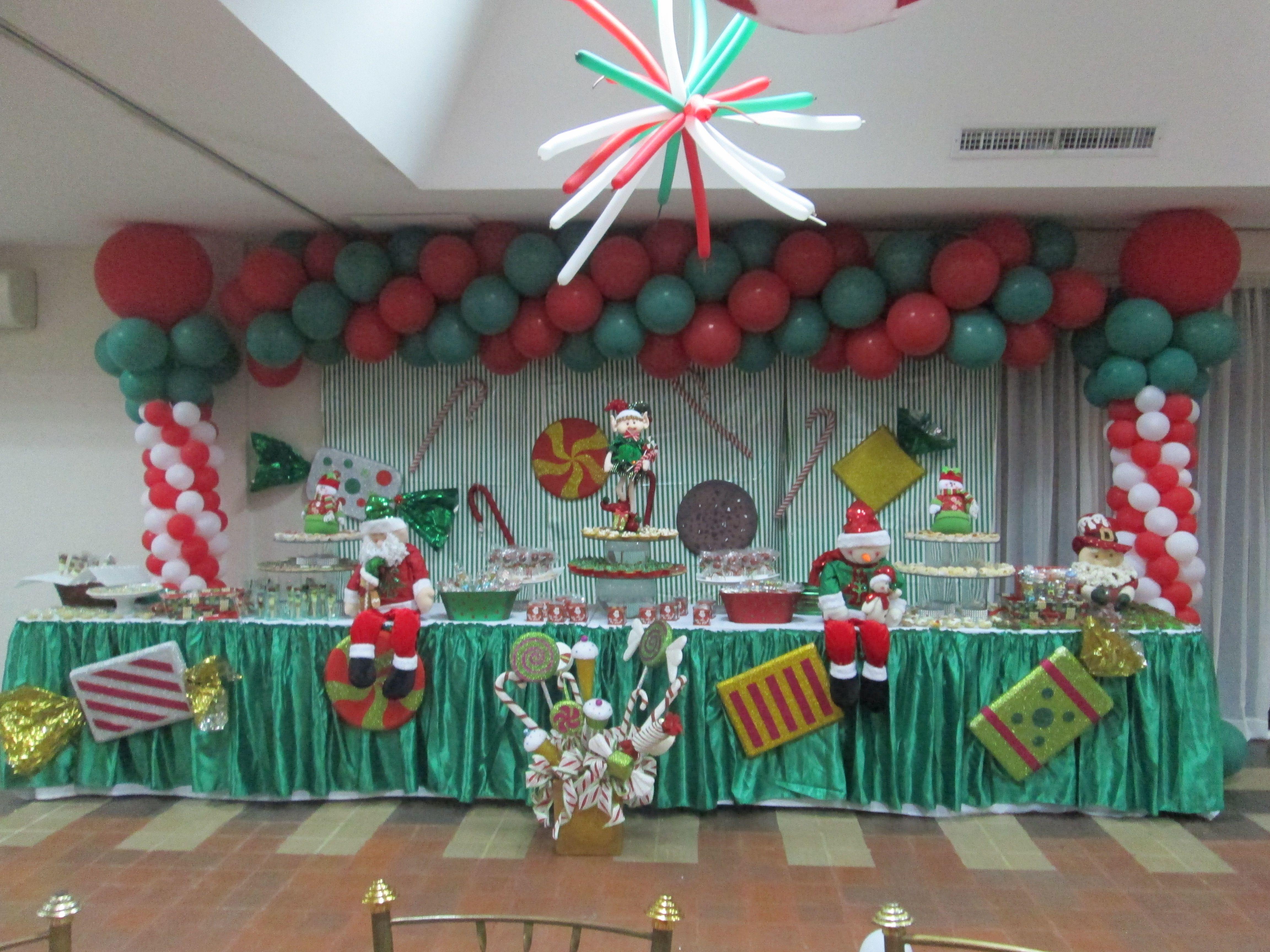 Mesa de dulces motivo navidad decoracion de cumplea os - Decoracion navidad infantil ...