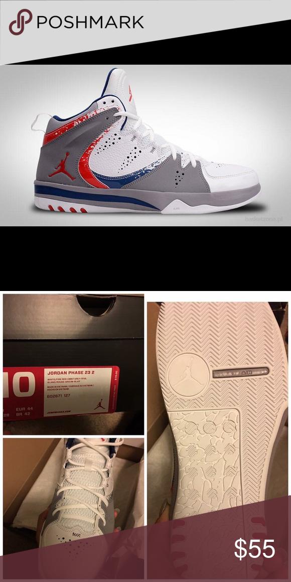 Men's Jordans NIB Red, White, & Blue Phase 23 2. Mens size 10. Jordan Shoes Sneakers