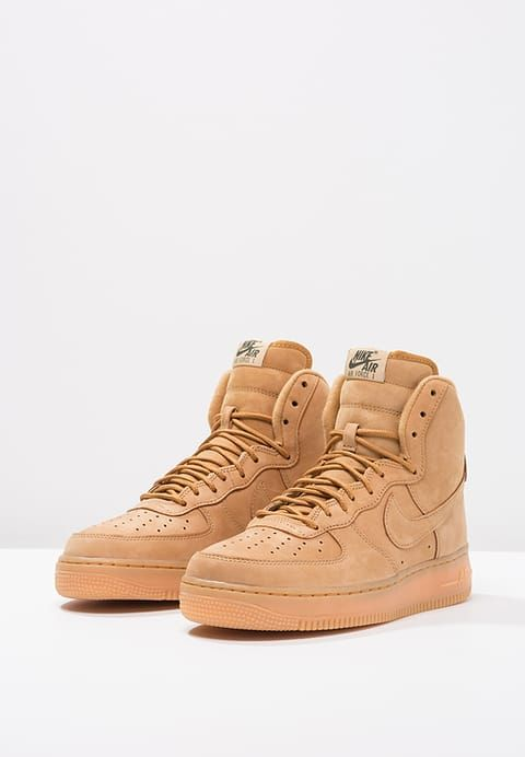 7df86a535a AIR FORCE 1 '07 LV8 - High-top trainers - flax/outdoor green/light brown -  Zalando.co.uk