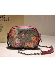 174537a8ab7 Gucci 409535 Blooms GG Supreme Mini Chain Bag F W 2015