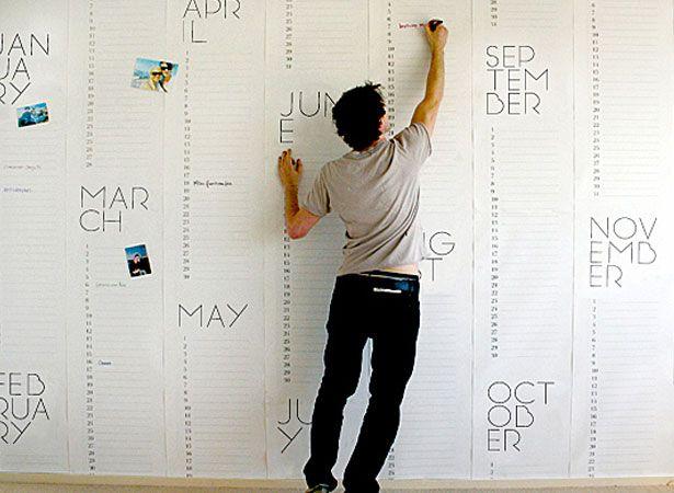 Calendar Wallpaper From Christiaan Postmaeurope Home Decor Ideas