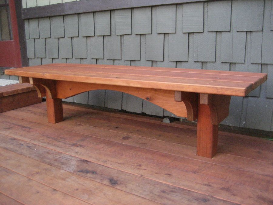 Craftsman Style Deck Craftsman Style Redwood Built In Deck Benches By Gizmodyne Decks