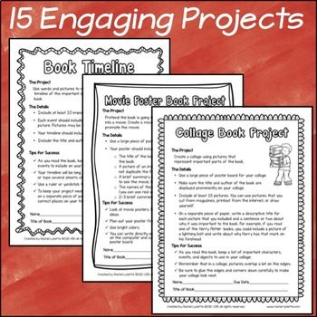 Book Reports - Book Projects with Grading Rubrics Book report - project report