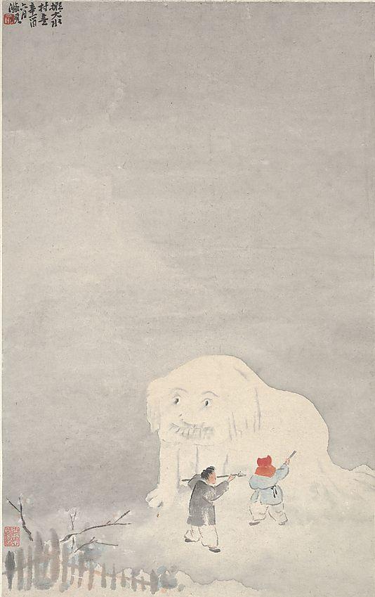 Yu Ming (1884–1935). Making a Snow-lion, dated 1921. The Metropolitan Museum of Art, New York. Gift of Robert Hatfield Ellsworth, in memory of La Ferne Hatfield Ellsworth, 1986 (1986.267.147) #snow