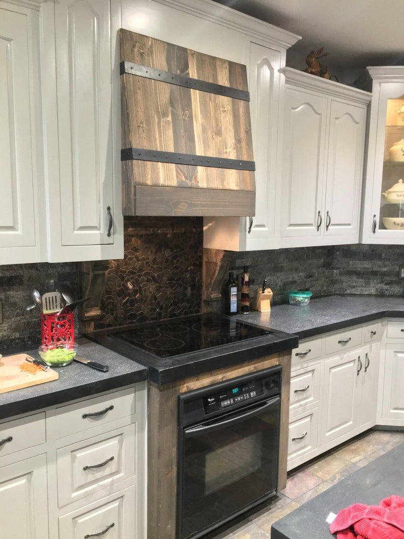 pine and metal kitchen vent hood kitchen decor modern etsy in 2020 kitchen decor inspiration on outdoor kitchen vent hood ideas id=68559