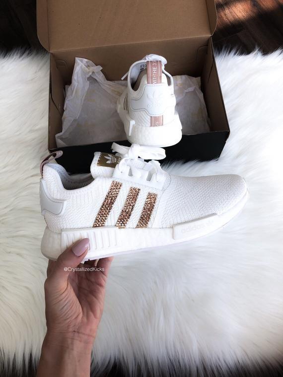 Swarovski bling Adidas NMD R1 Runner Sneaker Casual shoes