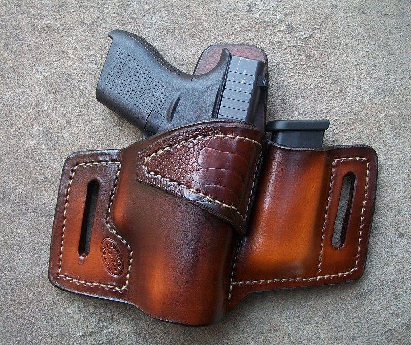Premium Quality Custom Fit Glock 19 Black or Brown 23  IWB Leather Holster
