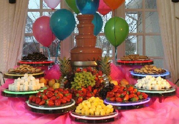 Chocolate Fountain Party Ideas #chocolatefountainfoods