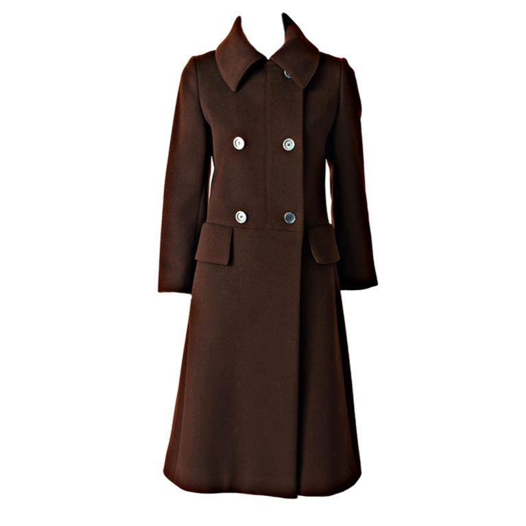 Hermes Double Breasted Coat | From a collection of rare vintage coats and outerwear at https://www.1stdibs.com/fashion/clothing/coats-outerwear/