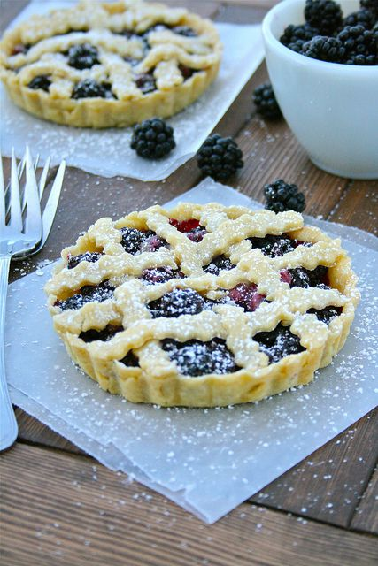 Individual Blackberry Pies