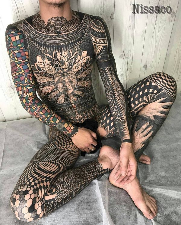 Exactly naked tatted men and women together charming message