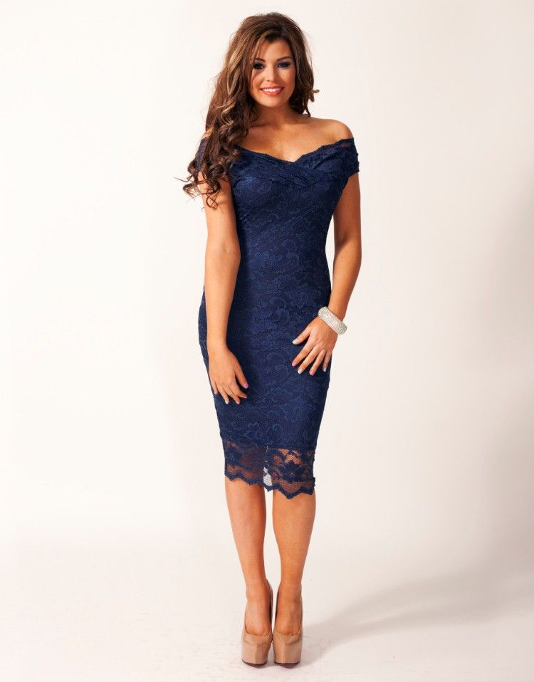 2a1c0ee4b29 Jessica Wright Olivia Off The Shoulder Lace Dress from Lipsy London ...