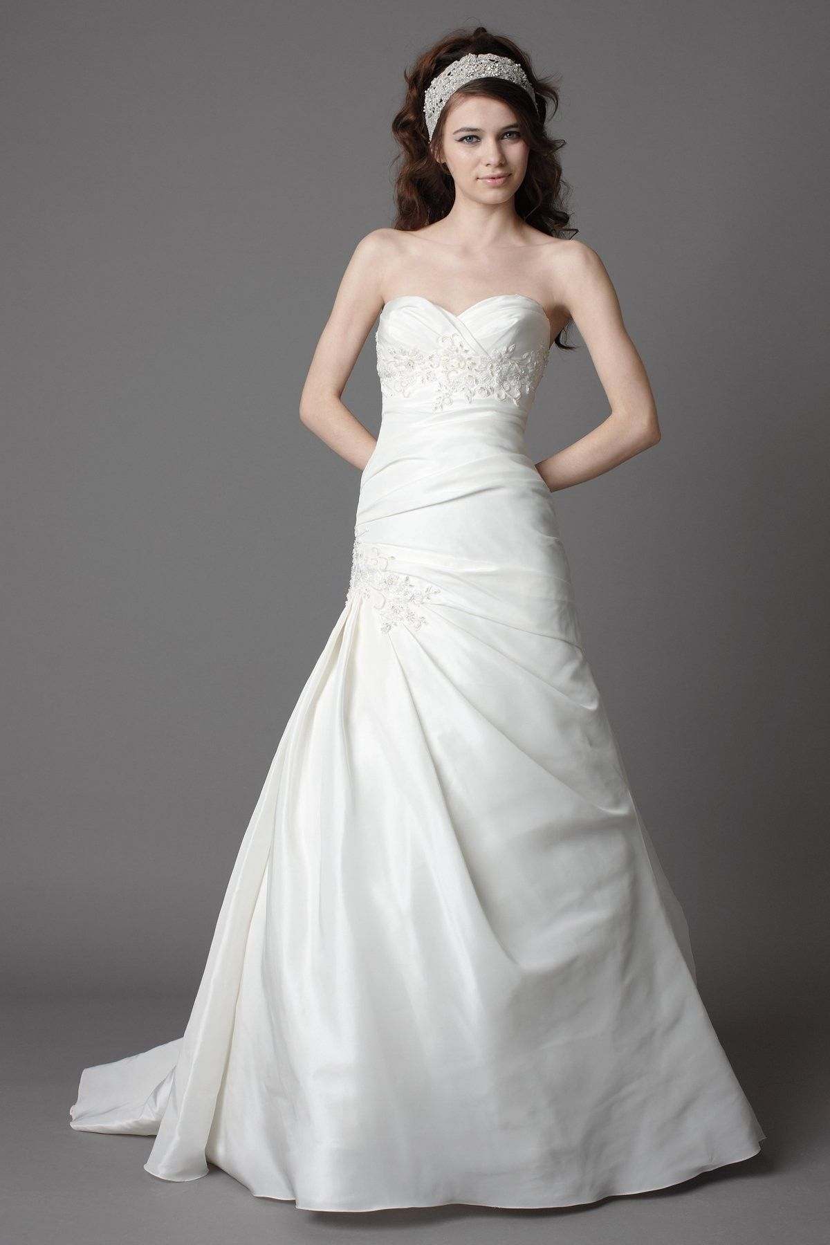 Simple and cheap wedding dresses  Simple Silky Taffeta Strapless Wedding Gown  Wedding Dresses