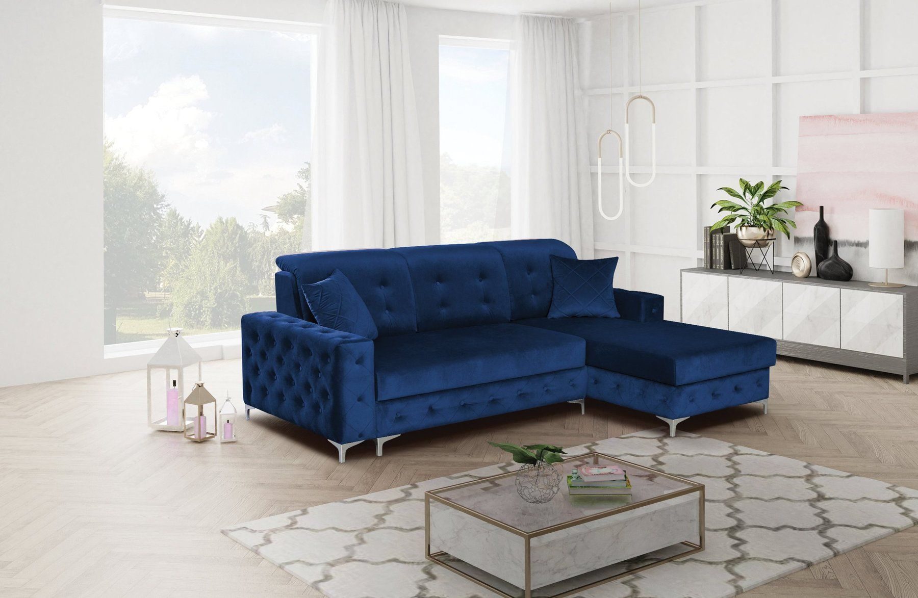 Verso Mini Blue Rf Sectional Sofa In 2020 Sectional Sofa Sectional Sleeper Sofa Sleeper Sectional
