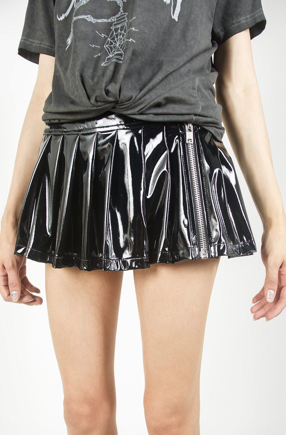 a4a0e71059 No clothing collection is complete without a Vinyl Classic Pleated Skirt.  Nothing sets off a look more than vinyl. A true classic. Get yours today.
