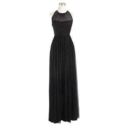 00c52939ca27c7 J.Crew - Petite Megan long bridesmaid dress in silk chiffon...in newport  navy or dark cove?