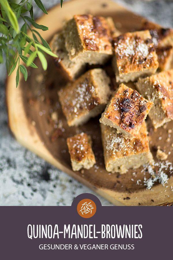 Quinoa Mandel Brownies Rezept Veganaschtisch Kuchen Kuchen