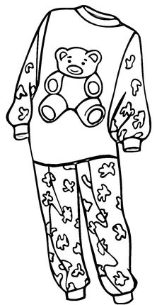 Pajamas For A Girl Coloring Page Pijama Partileri Boyama