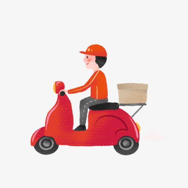Gambar Ilustrasi Ilustrasi Yang Dilukis Dengan Tangan Indah Sepeda Motor Aki Mobil Pengiriman Png Transparan Clipart Dan File Psd Untuk Unduh Gratis Kartun Ilustrasi Animasi