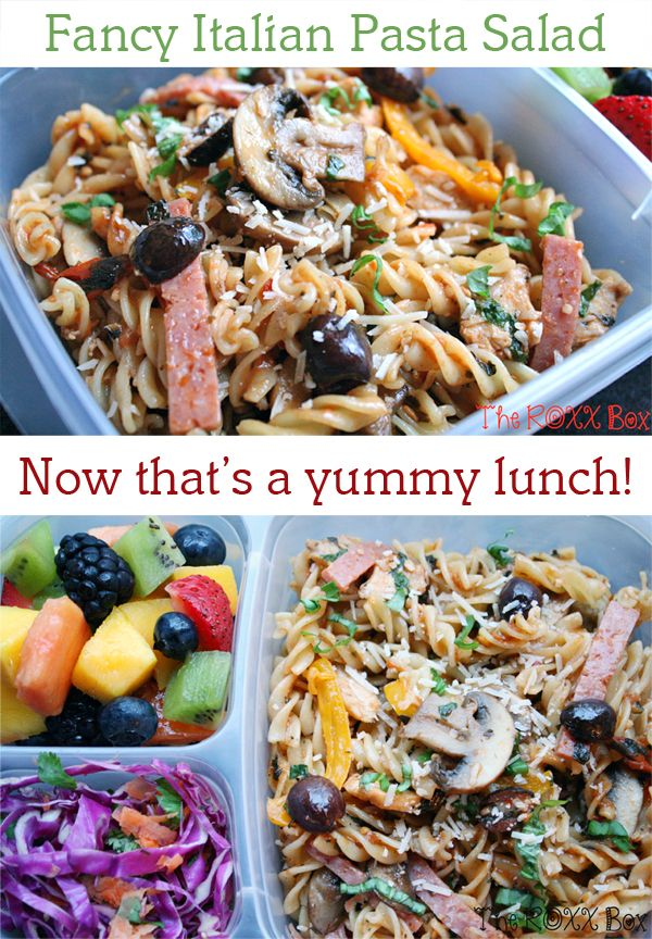"Oh, I could eat a lot of this fancy Italian Pasta Salad ... from The Roxx Box<br /> RECIPE HERE: <a href=""http://bit.ly/17nVEJg"">http://bit.ly/17nVEJg</a>"