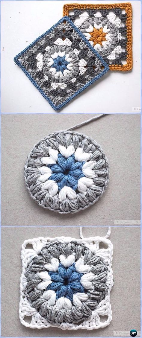 Crochet Granny Square Free Patterns Round Up